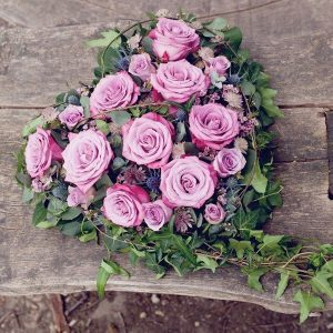 Funeral-heart-tribute-flowers-essex