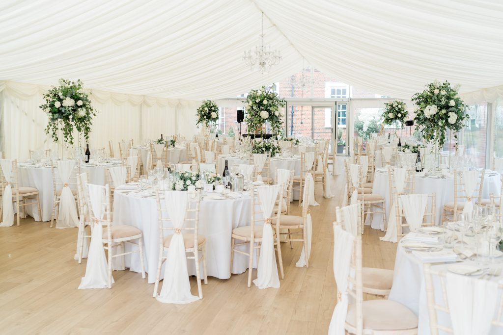 Little-Tin-Shed-wedding-flowers. Wedding-Flowers-Essex-Hutton-Hall-weddings-marquee-weddings-high-wedding-table-centerpieces